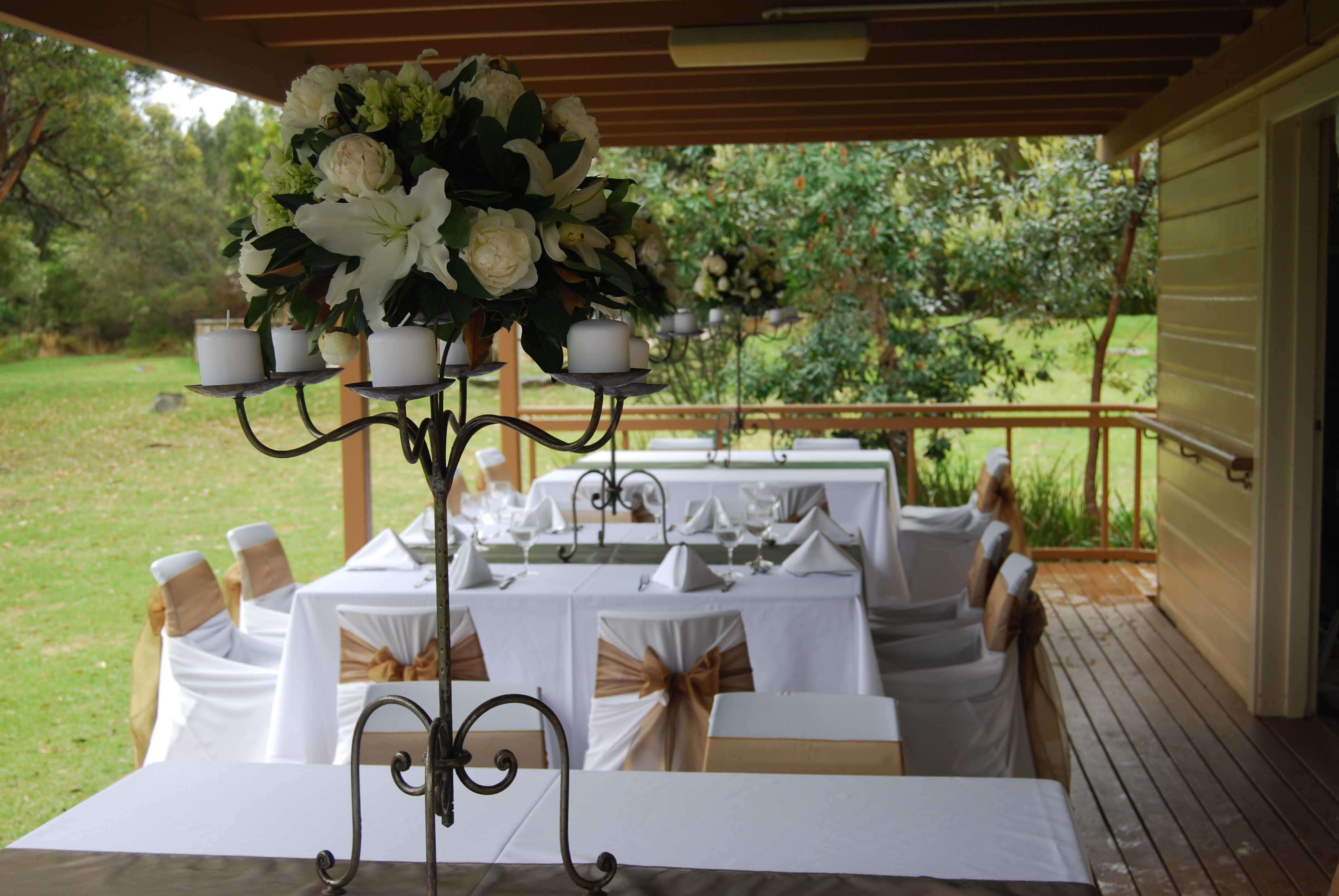 Oxford falls wedding setup