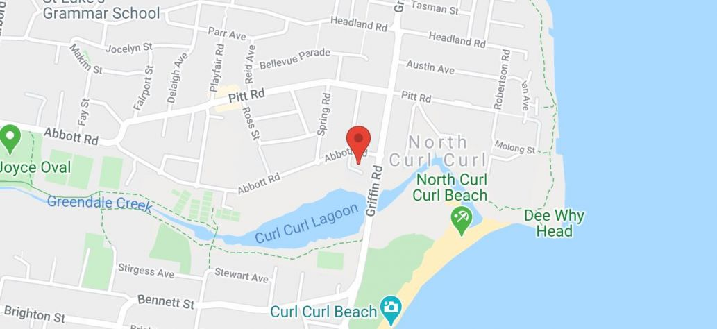 Map of North Curl Curl Community Centre