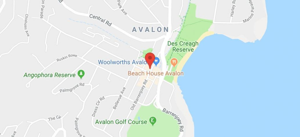 Map of Avalon Beach - SLSC building