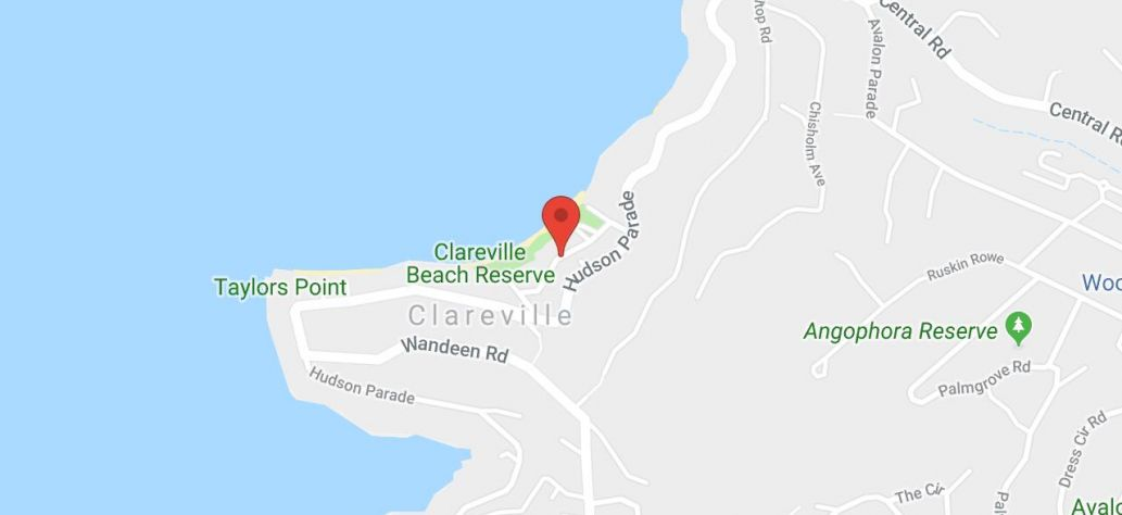 Map of Clareville Beach