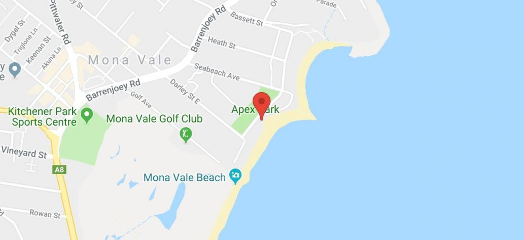 Map of Mona Vale Beach - SLSC Building