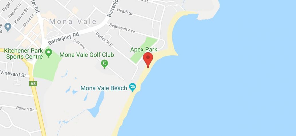 Map of Mona Vale Beach