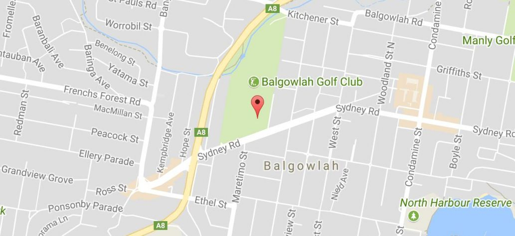 Map of Balgowlah Oval