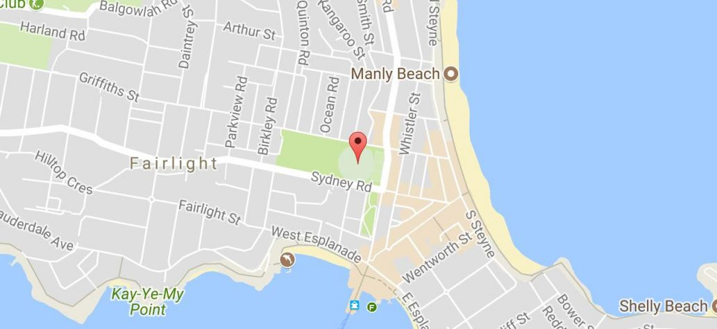 Map of Manly Oval
