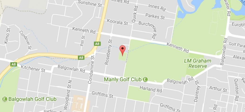 Map of Manly West Park