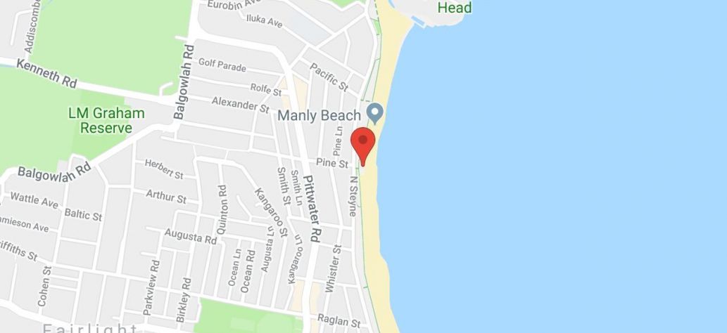 Map of North Steyne Beach