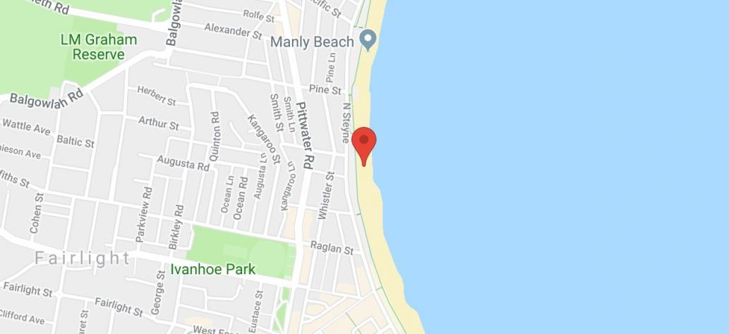 Map of Manly Beach
