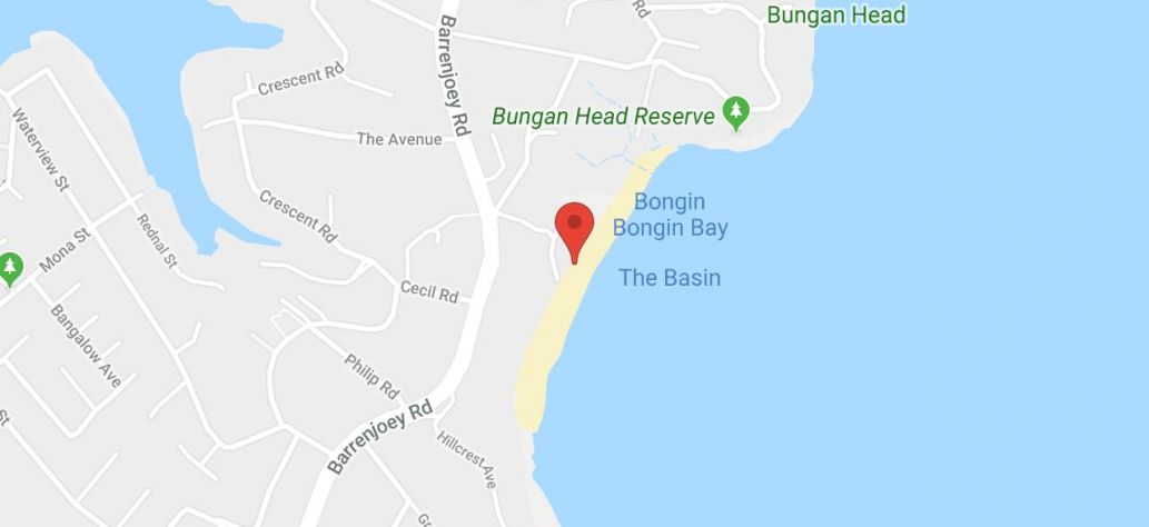 Map of Bungan Beach