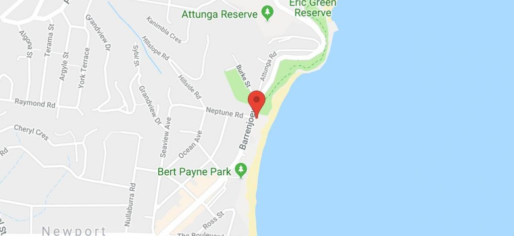 Map of Newport Beach Reserve - Netball