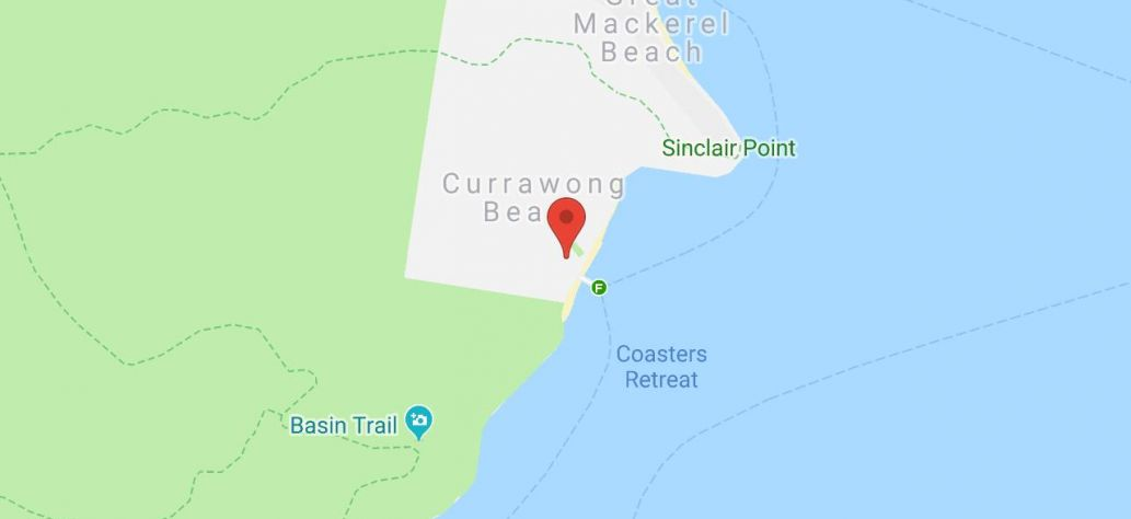 Map of Currawong Wharf