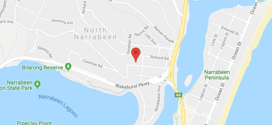 Map of North Narrabeen Community & Tennis Centre