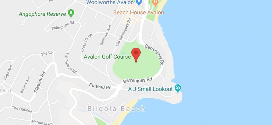 Map of Avalon Golf Course