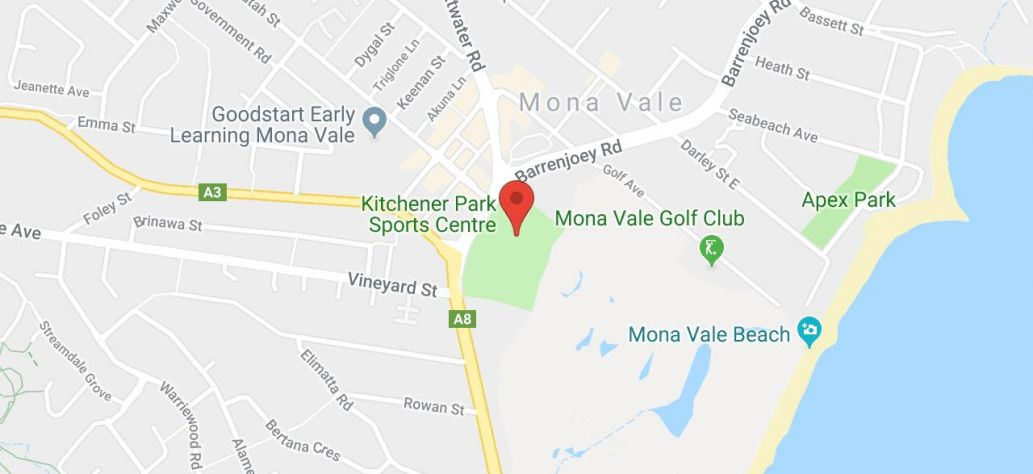 Map of Mona Vale Tennis Club