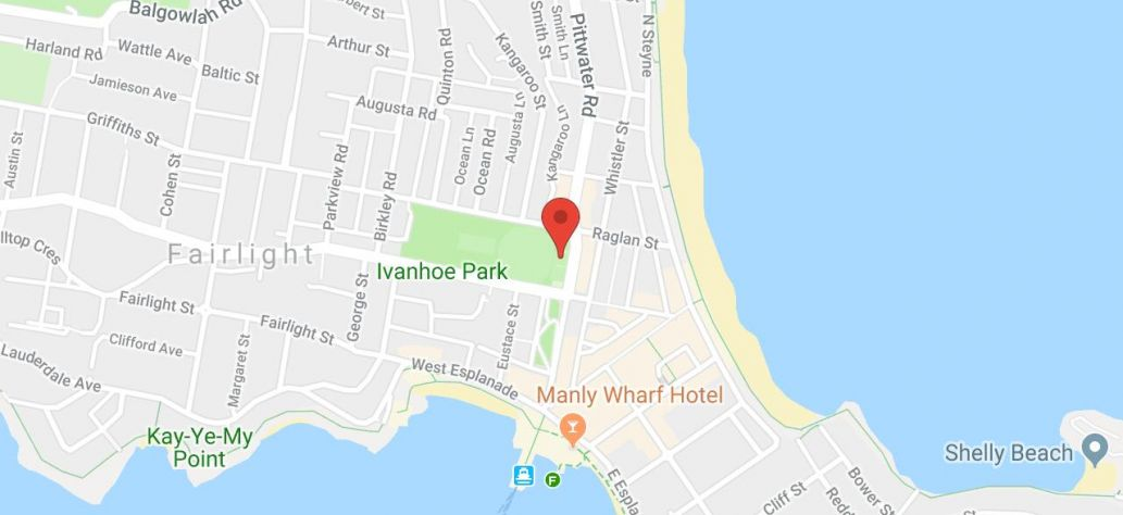 Map of Manly Lawn Tennis Club