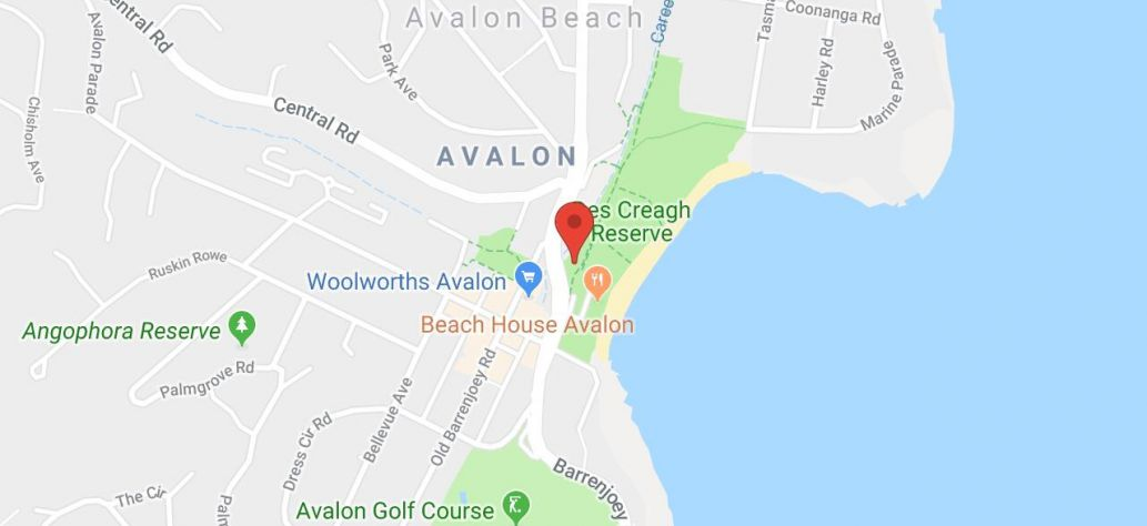 Map of Avalon Skate Park