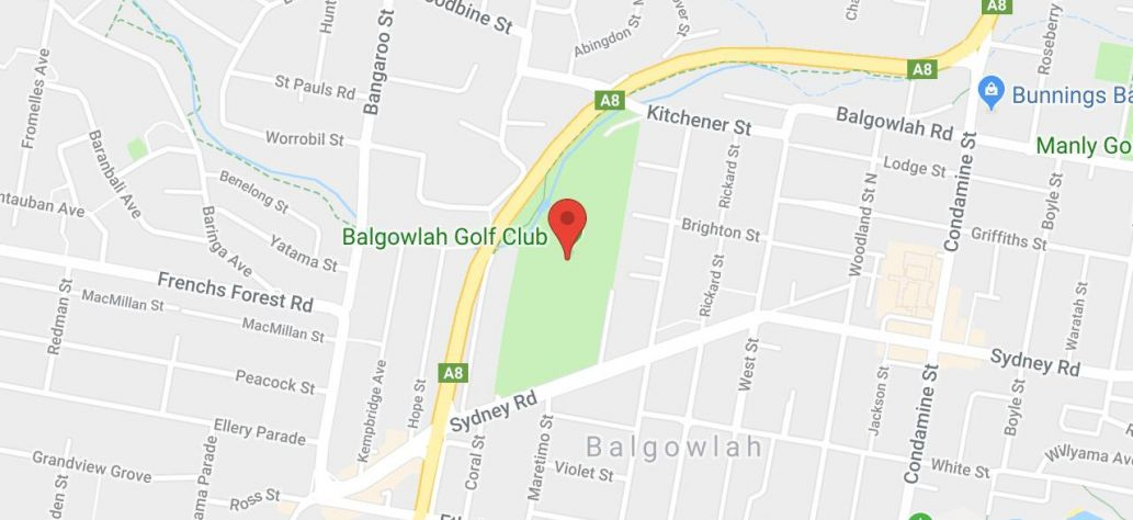 Map of Balgowlah Golf Course