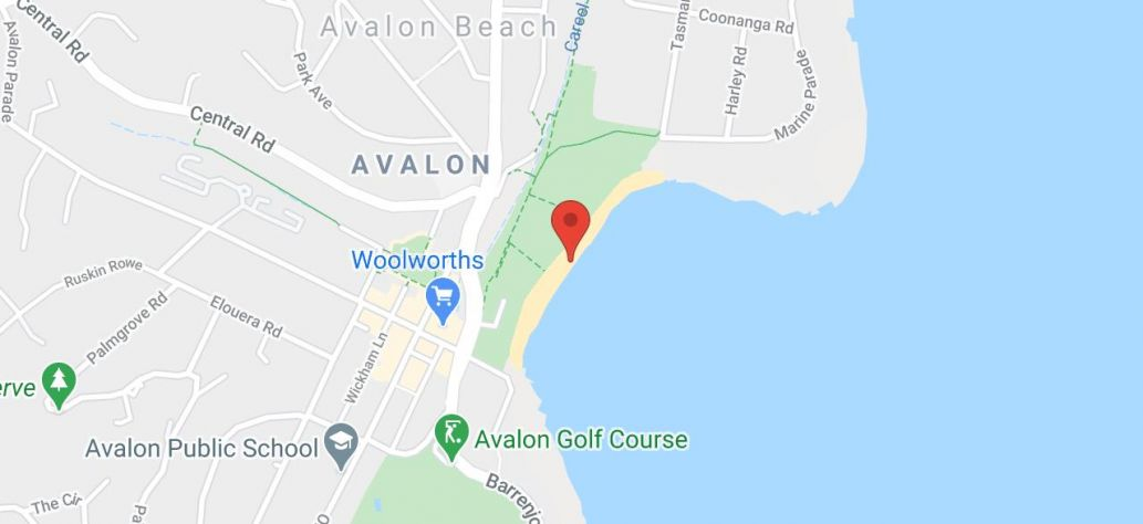 Map of Avalon Beach Reserve - Netball