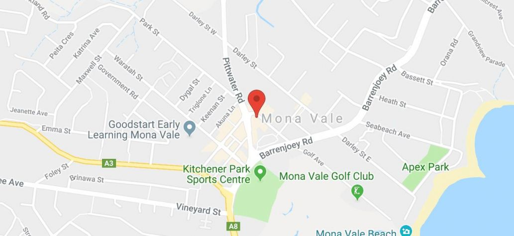 Map of Mona Vale