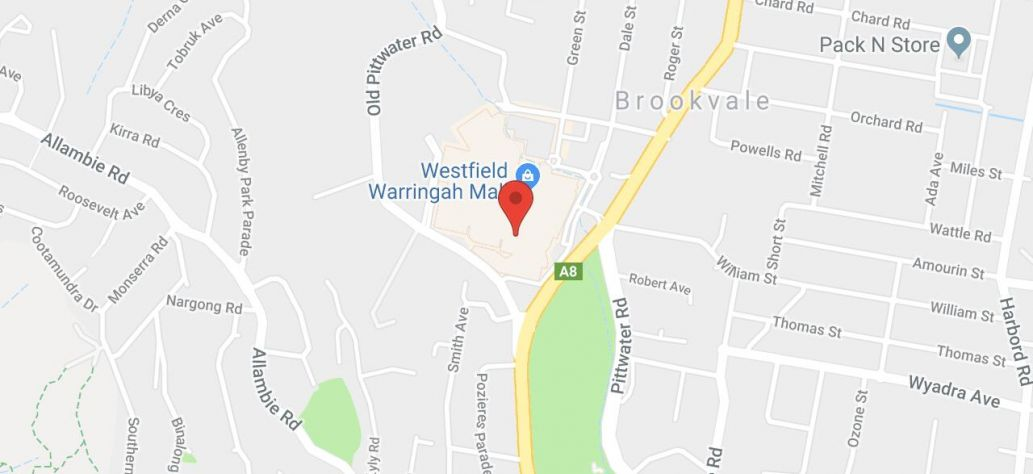 Map of Warringah Mall