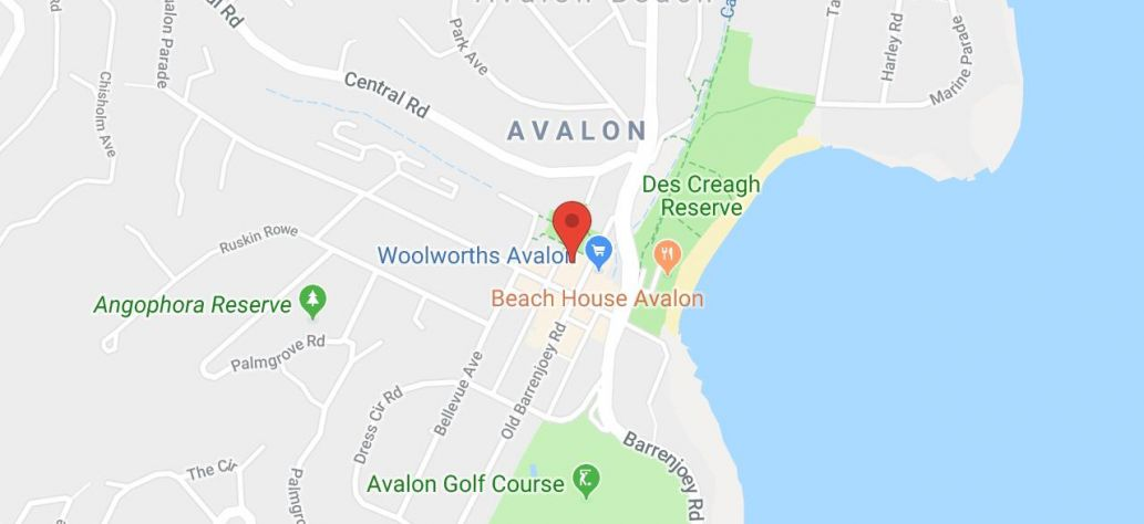 Map of Avalon Recreation Centre