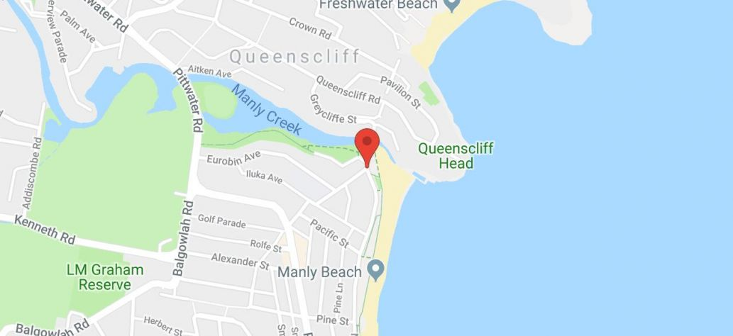 Map of Queenscliff Surf Pavilion