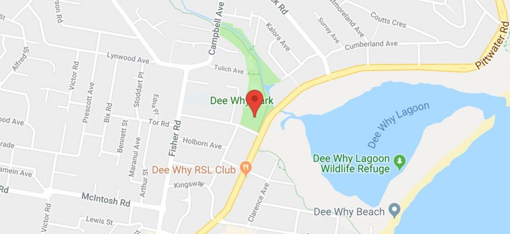 Map of Dee Why Park