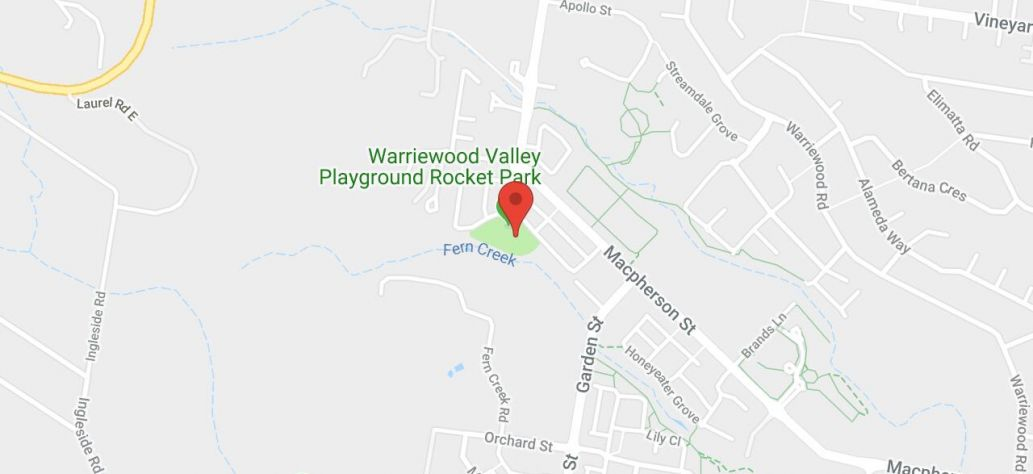 Map of Warriewood Valley Playground