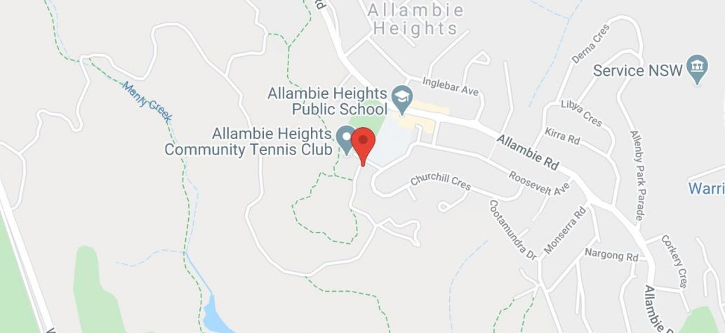 Map of Allambie Heights Tennis Club