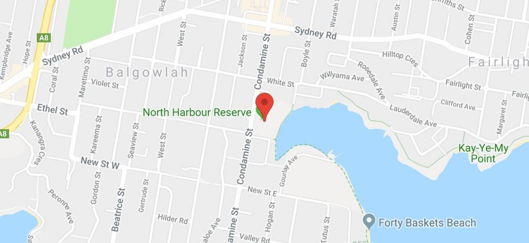 Map of North Harbour Reserve