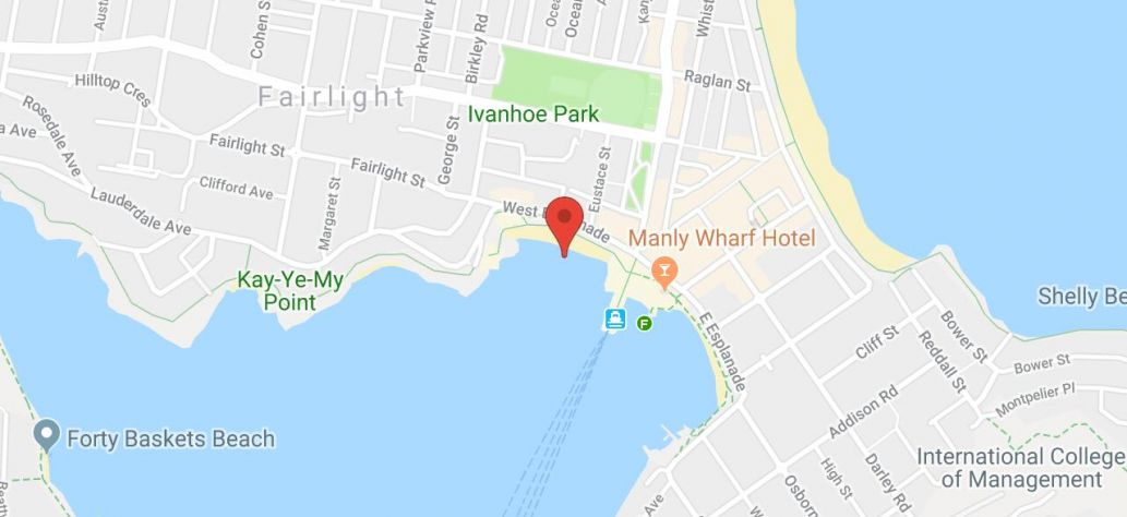 Map of Manly Cove