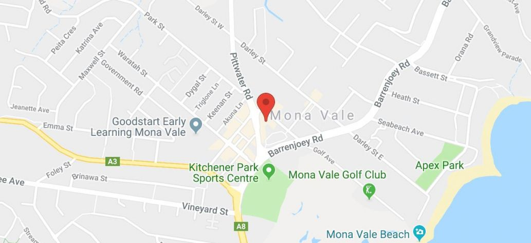Map of Mona Vale Memorial Hall