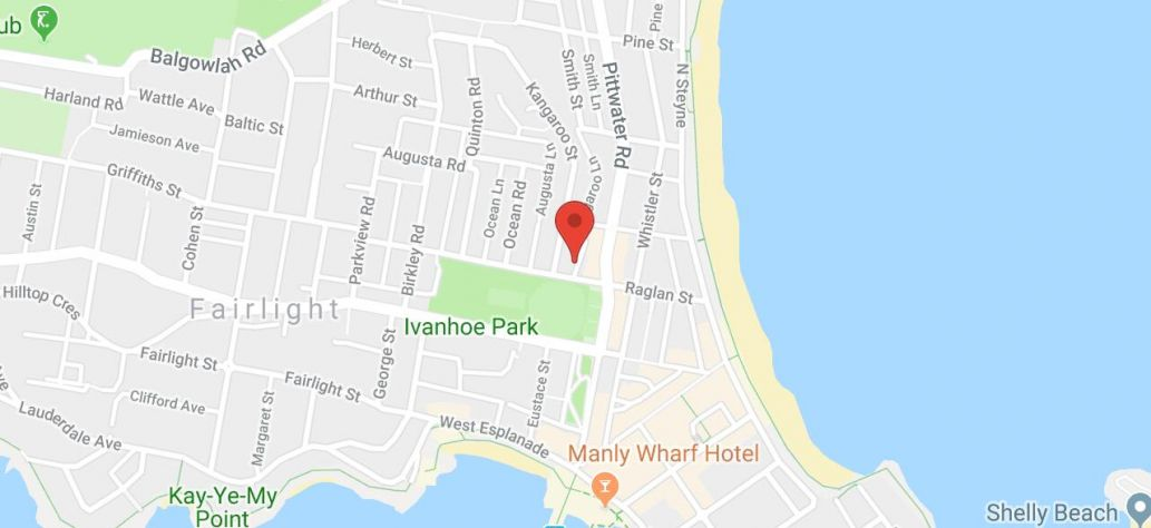 Map of Manly Youth Centre