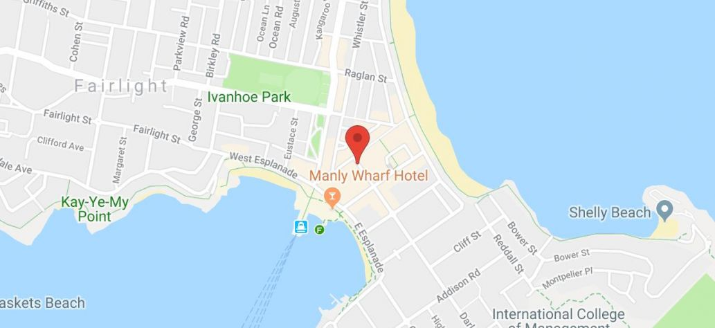 Map of Remembrance Day Memorial Service - Manly
