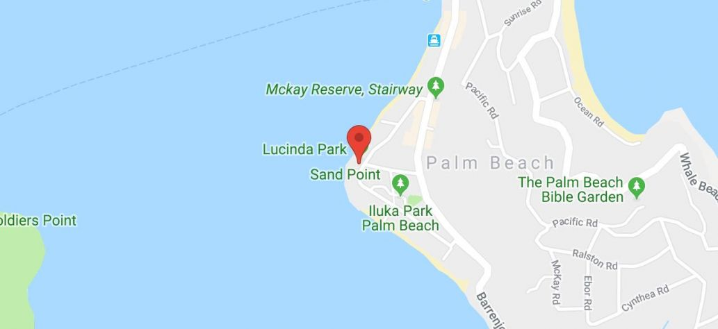 Map of Lucinda Park - Palm Beach - Dinghy Storage