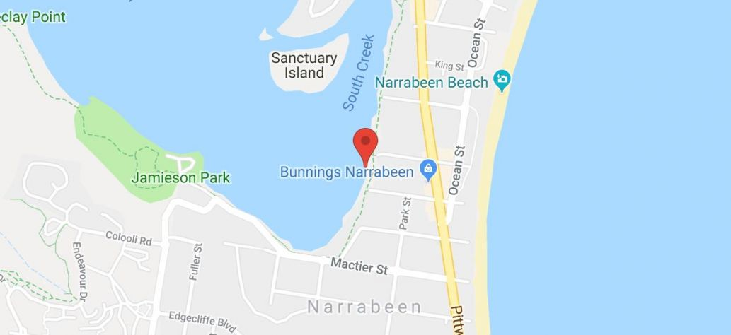 Map of Berry Reserve - Narrabeen - Watercraft Storage