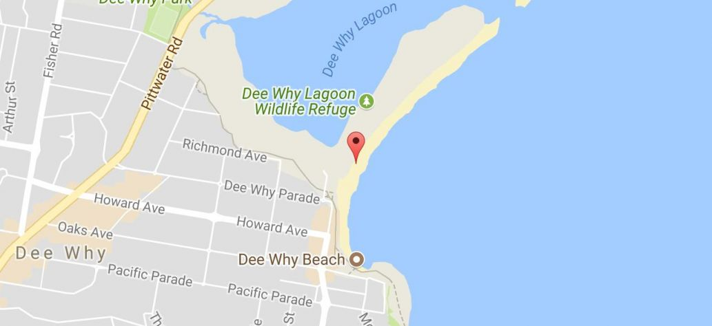 Map of Australia Day - Dee Why