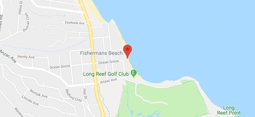 Map of Fishermans Beach