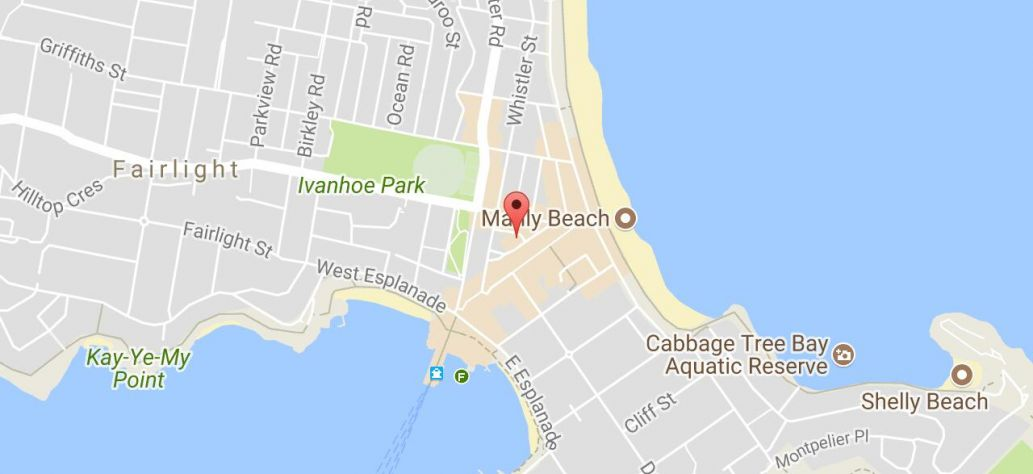 Map of Young Adult Book Club at Manly Library