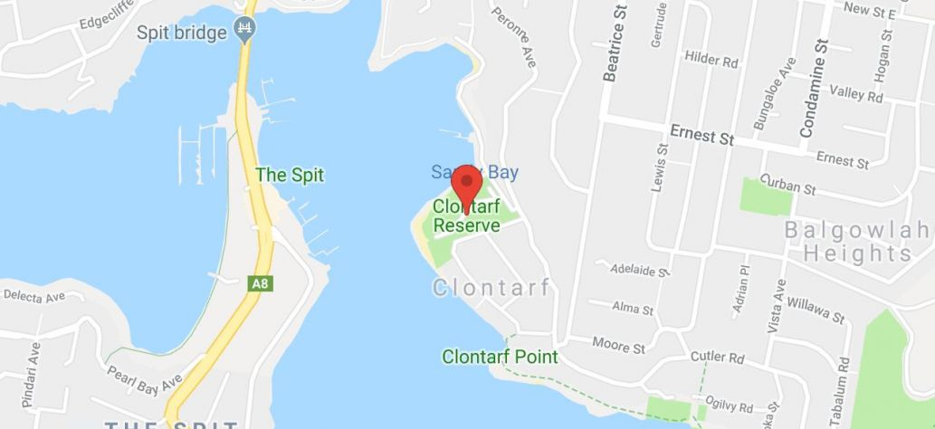 Map of Clontarf Reserve Boat Ramp