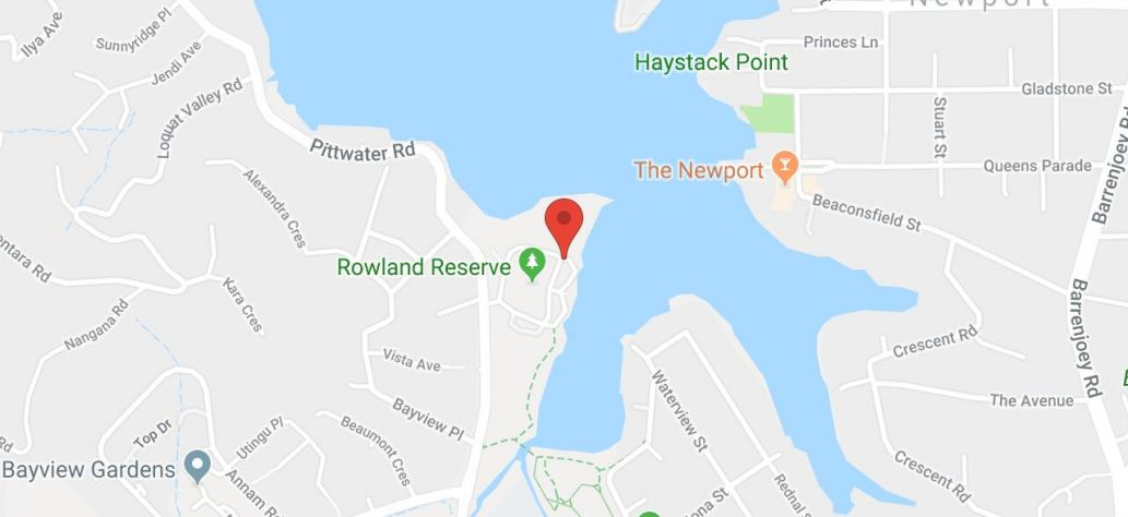 Map of Bayview Park Boat Ramp
