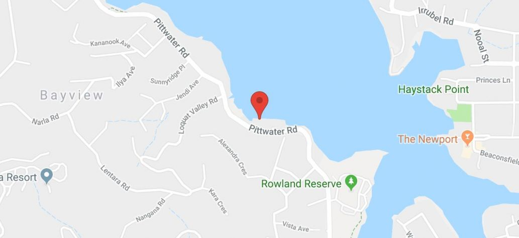 Map of Maybanke Cove Boat Ramp