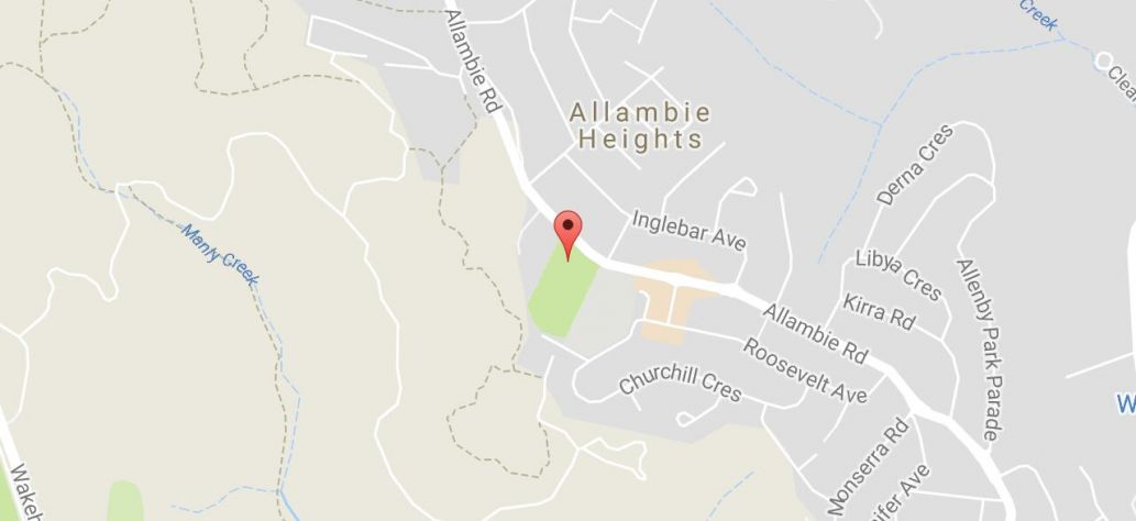 Map of Allambie Heights Oval Public Toilets