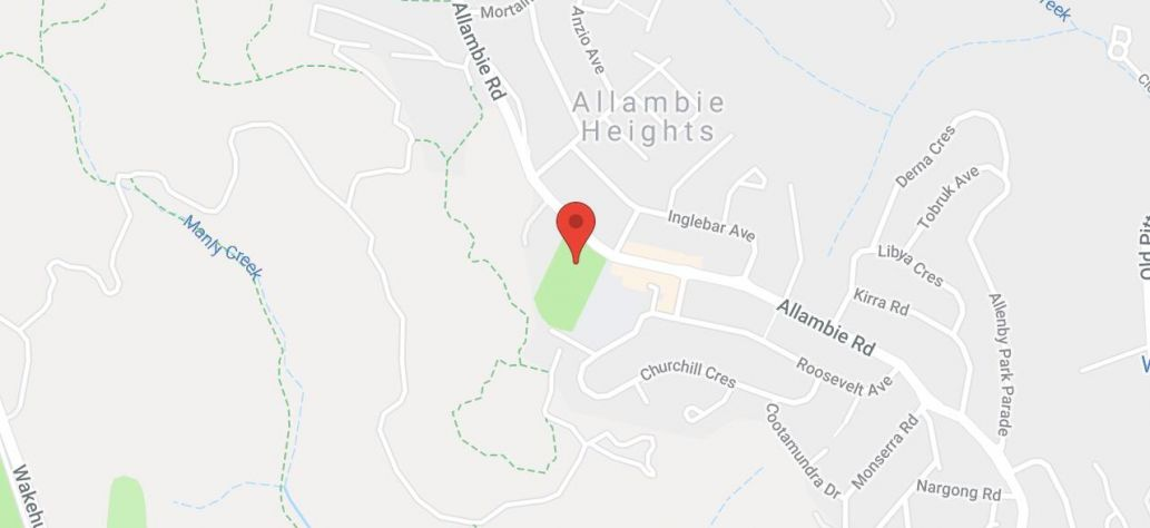 Map of Allambie Heights Oval