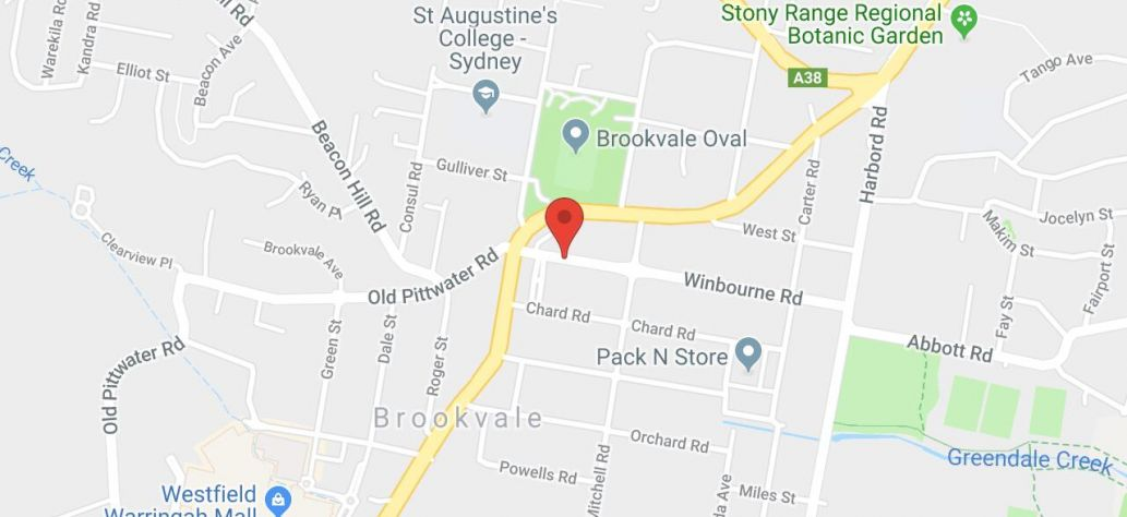 Map of Brookvale Shops Car Park Public Toilets