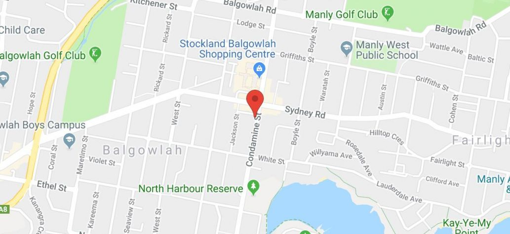 Map of Balgowlah Shopping Centre Public Toilets