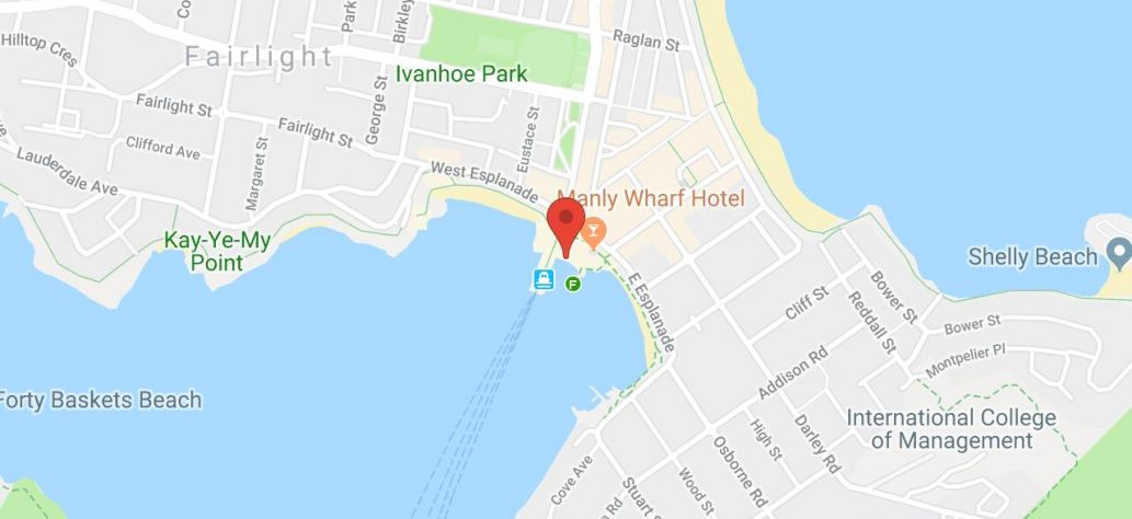 Map of Manly Wharf Basement Level Public Toilets