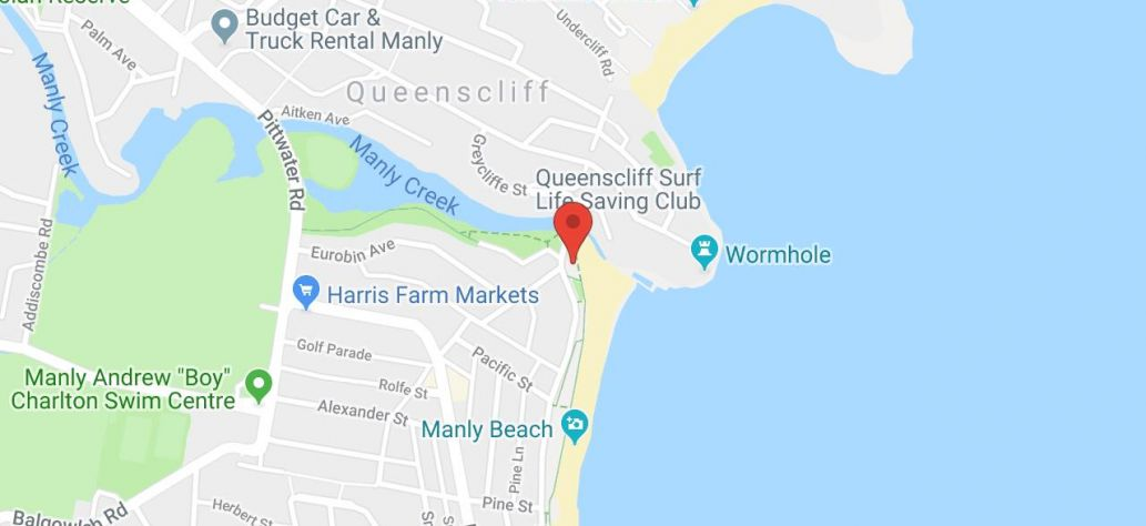 Map of Queenscliff Surf Club Public Toilets