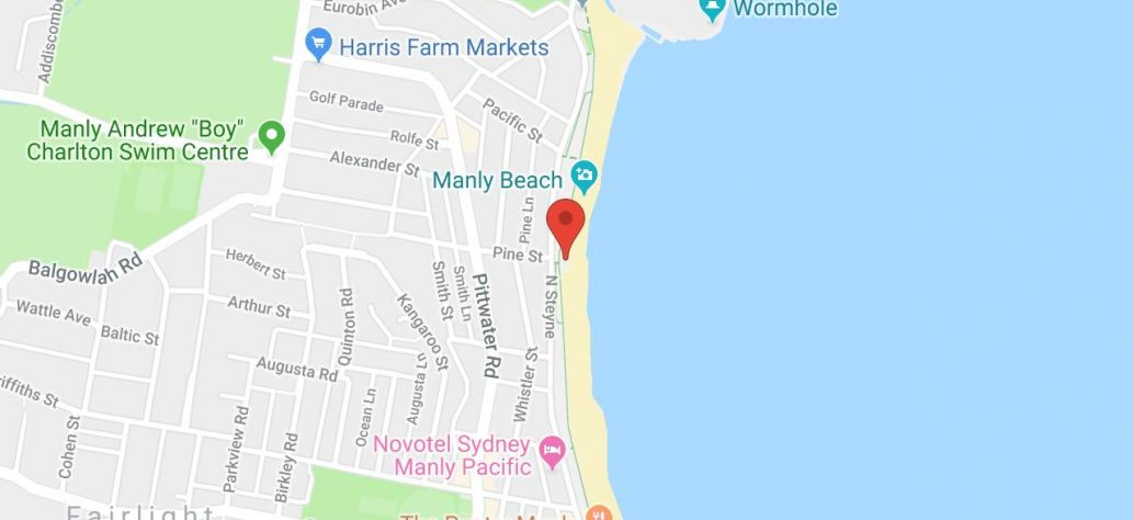 Map of North Steyne Surf Club Public Toilets