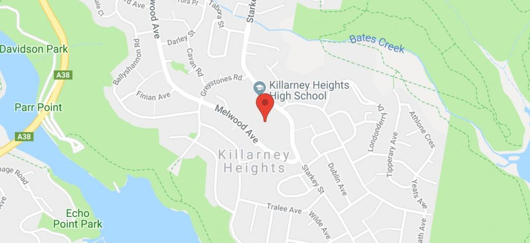 Map of Forest/Killarney Soccer Club Public Toilets