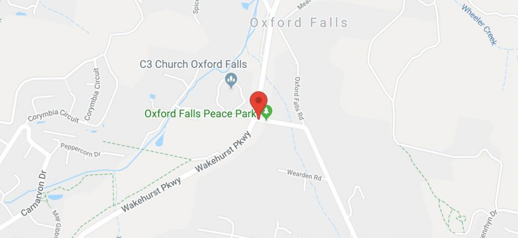 Map of Oxford Falls Peace Park